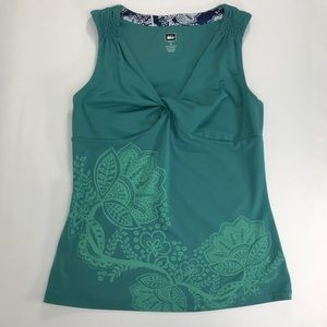 REI women's teal athletic tank top size M